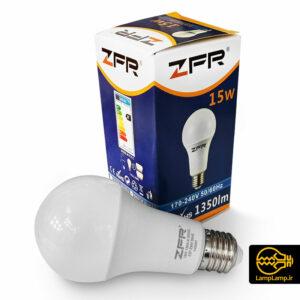 لامپ ال ای دی حبابی ۱۵ وات E27 زد اف ار