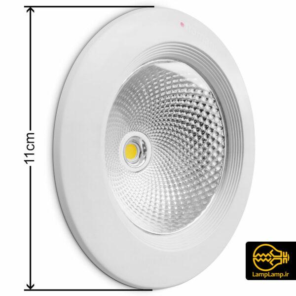 چراغ سیلندری توکار COB گرد 10 وات نمانور
