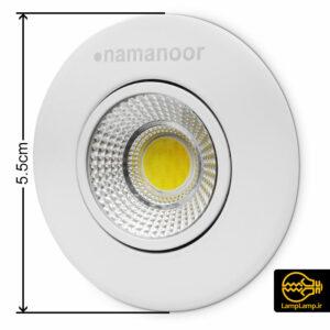 چراغ سیلندری توکار COB گرد ۴ وات نمانور