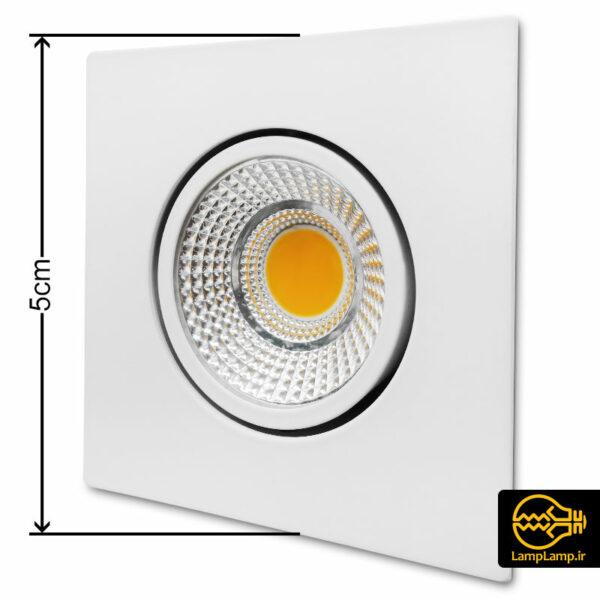 چراغ سیلندری سقفی مربع COB توان 4 وات نمانور