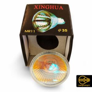 لامپ هالوژن کاسه ای رفلکتور دار  ۱۲ ولت ۳۵ وات MR11