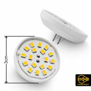 لامپ هالوژن اس ام دی ۲.۵ وات ۱۲ ولت گرد ۳ سانت