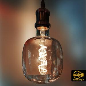 لامپ ادیسونی دکوراتیو ۸ وات حباب دودی