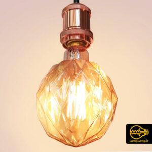 لامپ تزئینی ادیسونی مدل چند ظلعی پایه E27