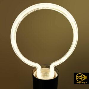 لامپ نئون تزئینی مدل دایره پایه E27
