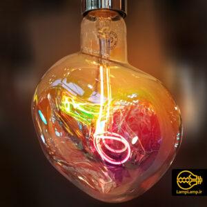 لامپ تزئینی ادیسونی با حباب هفت رنگ شفاف