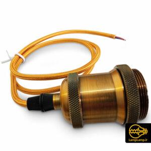 سرپیچ لامپ ادیسونی فیلامنتی E27 فلزی طلایی