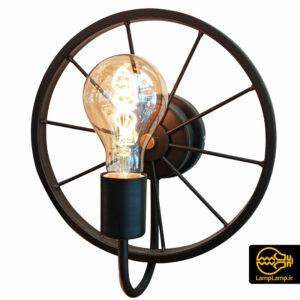 چراغ دیوارکوب فلزی مدل چرخ با سرپیچ E27