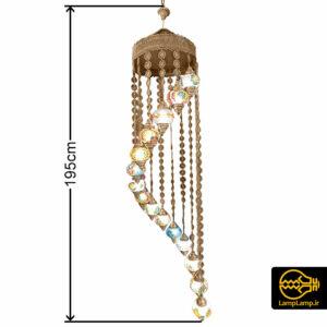 لوستر مراکشی ۱۵ شاخه طلایی دست ساز