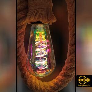 لامپ ادیسونی هفت رنگ ۸ وات حباب خمره ای
