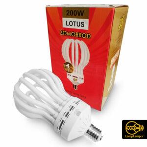 لامپ کم مصرف بزرگ ۲۰۰ وات پایه E40 زمرد