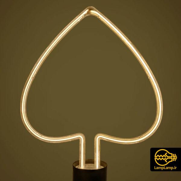 لامپ نئونی تزئینی مدل قلبی پایه E27