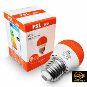 لامپ ال ای دی نارنجی کوچک ۲ وات پایه E27