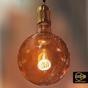 لامپ ادیسونی حباب گرد با فیلامنت پیچی
