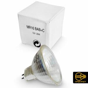 لامپ هالوژنی کاسه ای ۱۲ ولت ۲۰ وات MR16