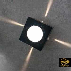 چراغ دیواری دکوراتیو مکعبی پخش نور ۵ جهته