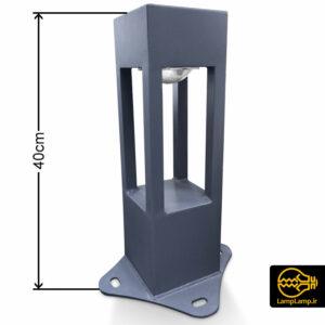 چراغ چمنی ال ای دی فلزی ارتفاع ۴۰ سانتیمتر
