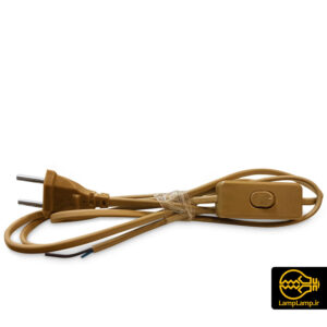 سیم کلید دار دوشاخه دار طول ۱۸۰ سانتی رنگ خردلی