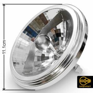 لامپ هالوژن ۱۲ ولت ۵۰ وات کاسه ای مدل AR111 اپل