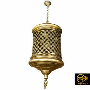 لوستر مراکشی طلایی تک شعله طرح سنتی