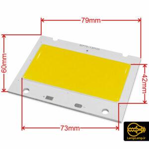 ال ای دی cob توان ۵۰ وات ۷۹×۶۰ سانتیمتر ۱۳P10S
