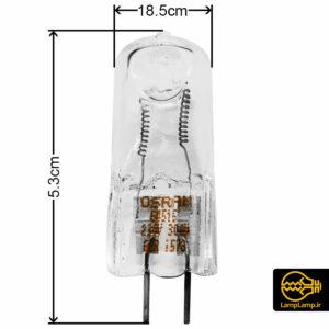 لامپ هالوژن ۳۰۰ وات پایه سوزنی اسرم کد ۶۴۵۱۵