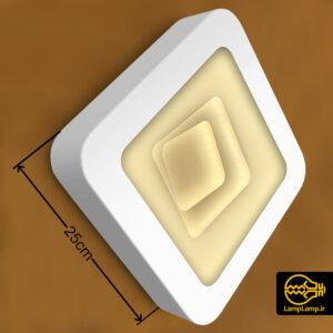 چراغ دیواری مدرن ۲۰ وات مربع سه بعدی