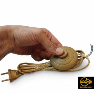 سیم کلید دار پدالی رنگ خردلی سیم ۱۸۰ سانتیمتر