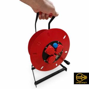 کابل جمع کن دستی په پریز درپوش دار قرمز